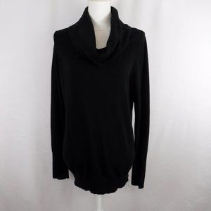 Chico's Black Cowl Neck Long Sleeve Knit Sweater